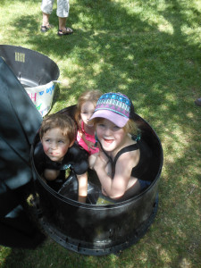 How many kids can we fit into a composter?