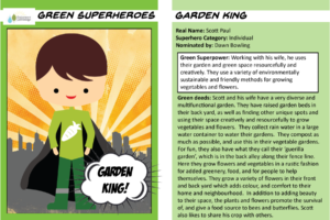 Superhero trading cards Garden King