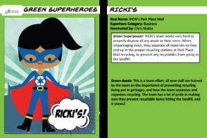 Superhero trading cards Rickis