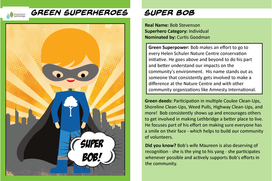 Superhero trading cards Super Bob